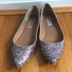 Steve Madden Pointy Glitter Flats